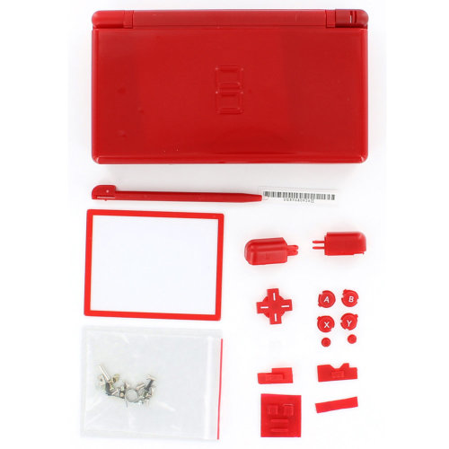f97940fcadca Replacement housing shell casing repair kit for DS Lite NDSL DSL - red  ZedLabz on OnBuy