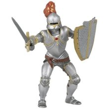 Knight In Armour With Red Feather - Papo Figure New Armou Figure Toy Fantasy -  papo knight red armour figure new ARMOURED KNIGHT FIGURE TOY FANTASY