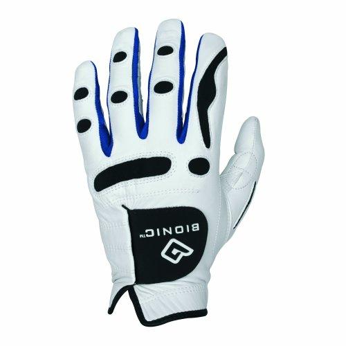 Bionic Men's PerformanceGrip Left Hand (Right Handed Golfer) Golf Glove - White, Medium/Large