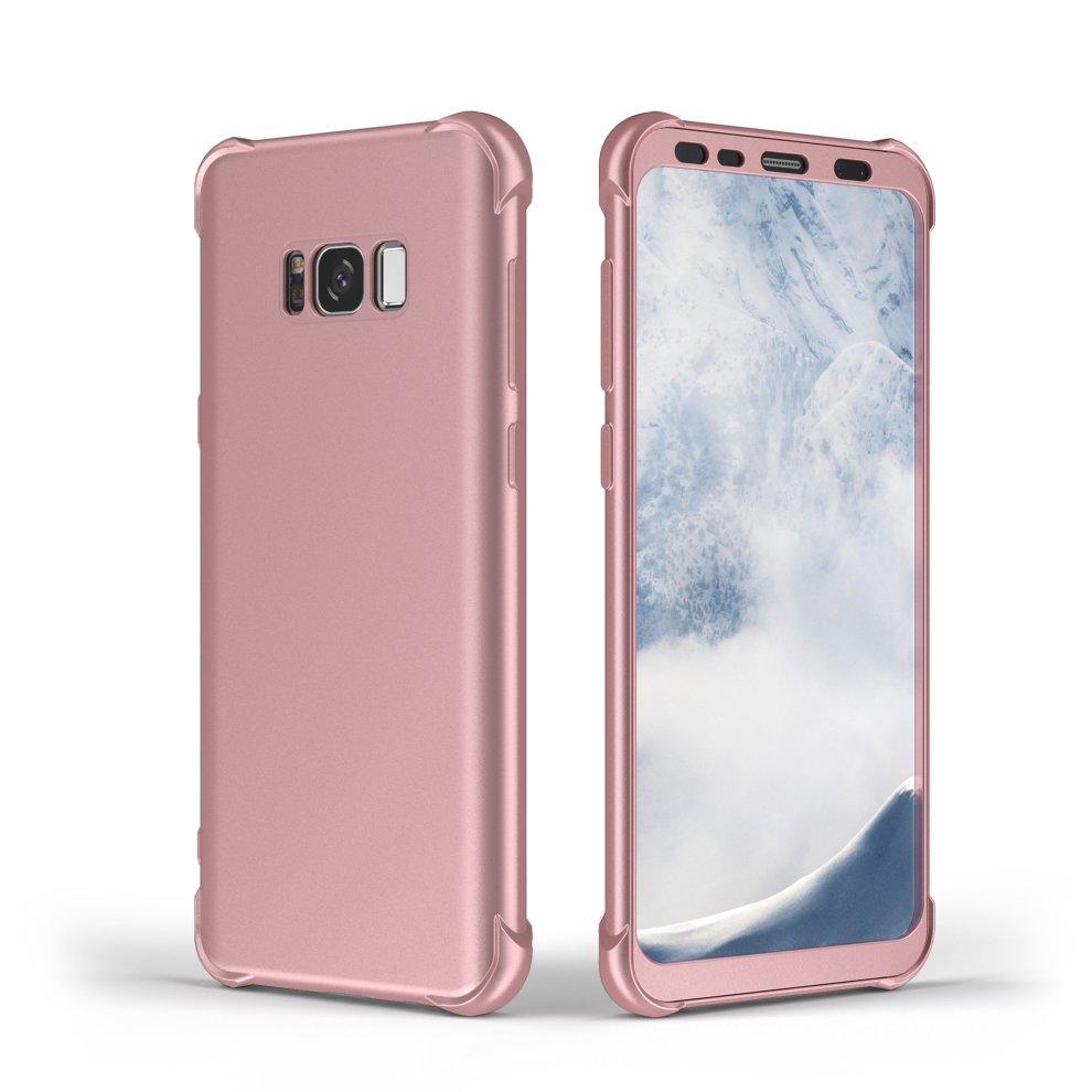 best loved 7add1 fb146 Samsung Galaxy S8 Case, ORETech 360° Full Body Shockproof Galaxy S8 Case  Ultra Thin Cover [Air Cushion Corner] Anti-Scratch Hard PC + TPU Bumper...