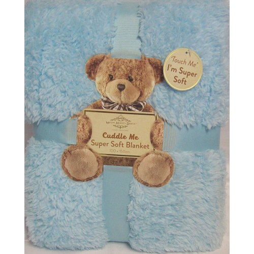 Cuddle Me Super Soft Sherpa texture Blanket 100x150cm - BLUE